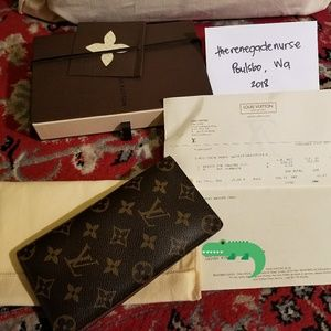 LV Porte Valeurs checkbook wallet authentic